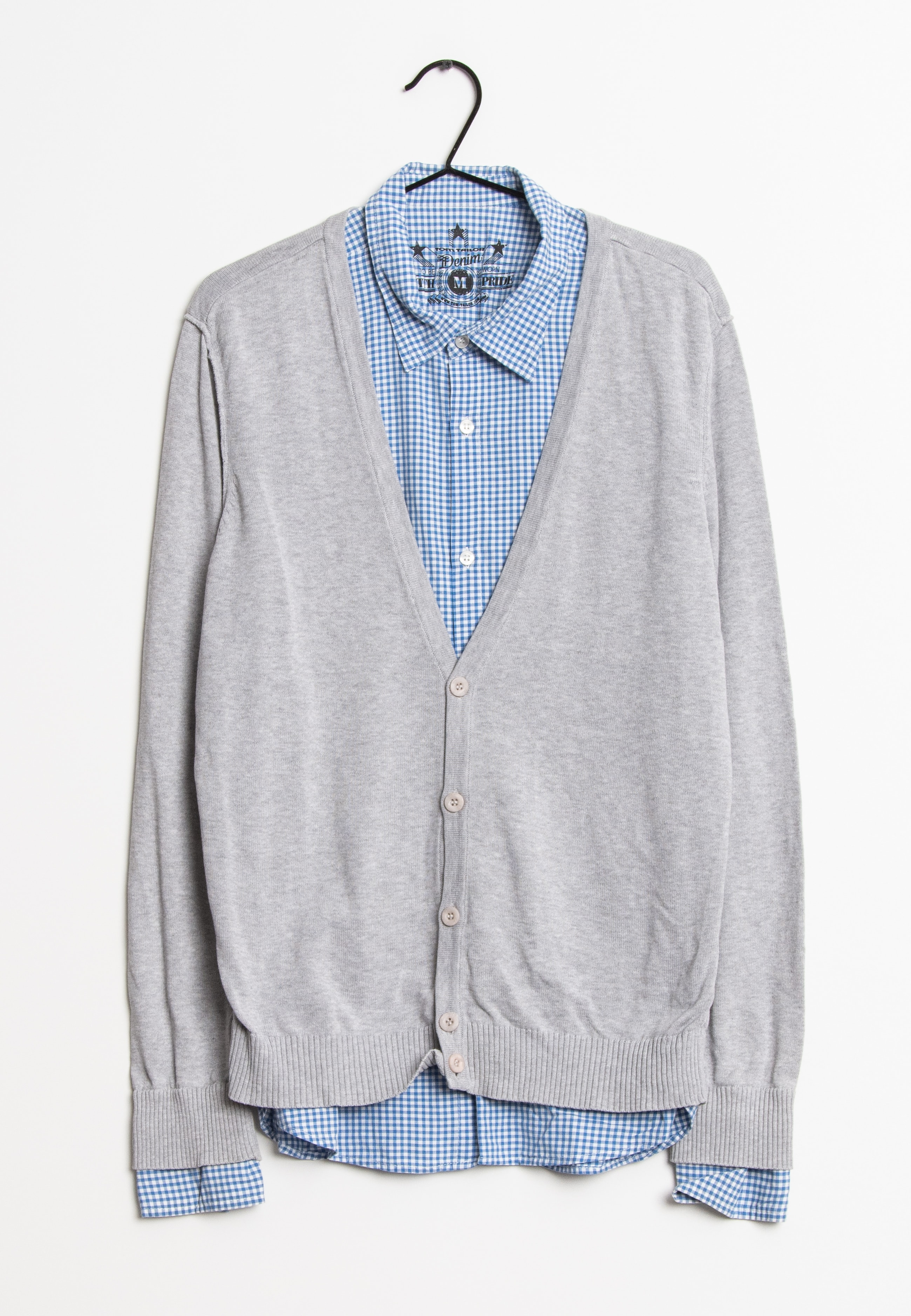TOM TAILOR DENIM cardigan, grå, M