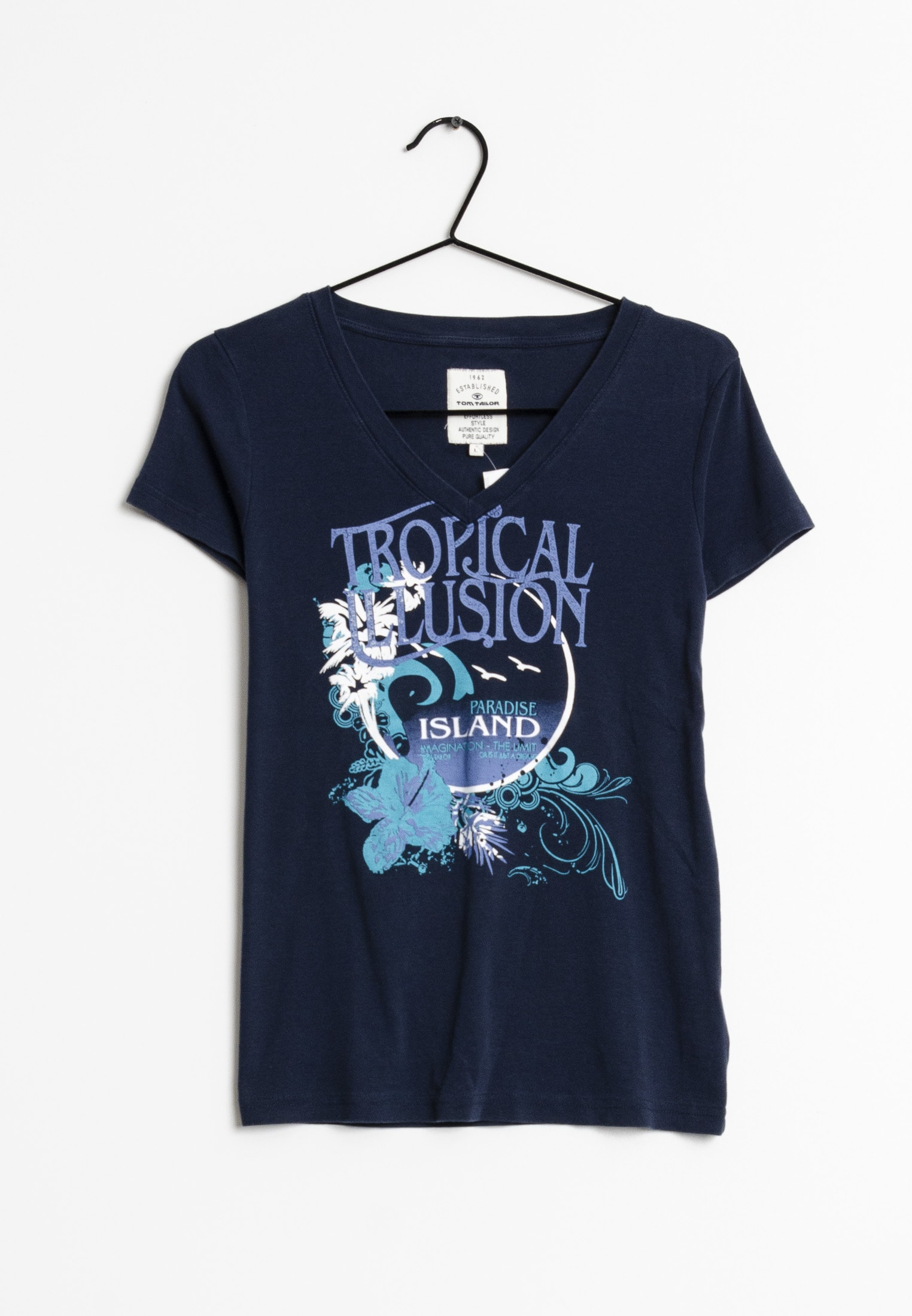 TOM TAILOR T-Shirt Blau Gr.L