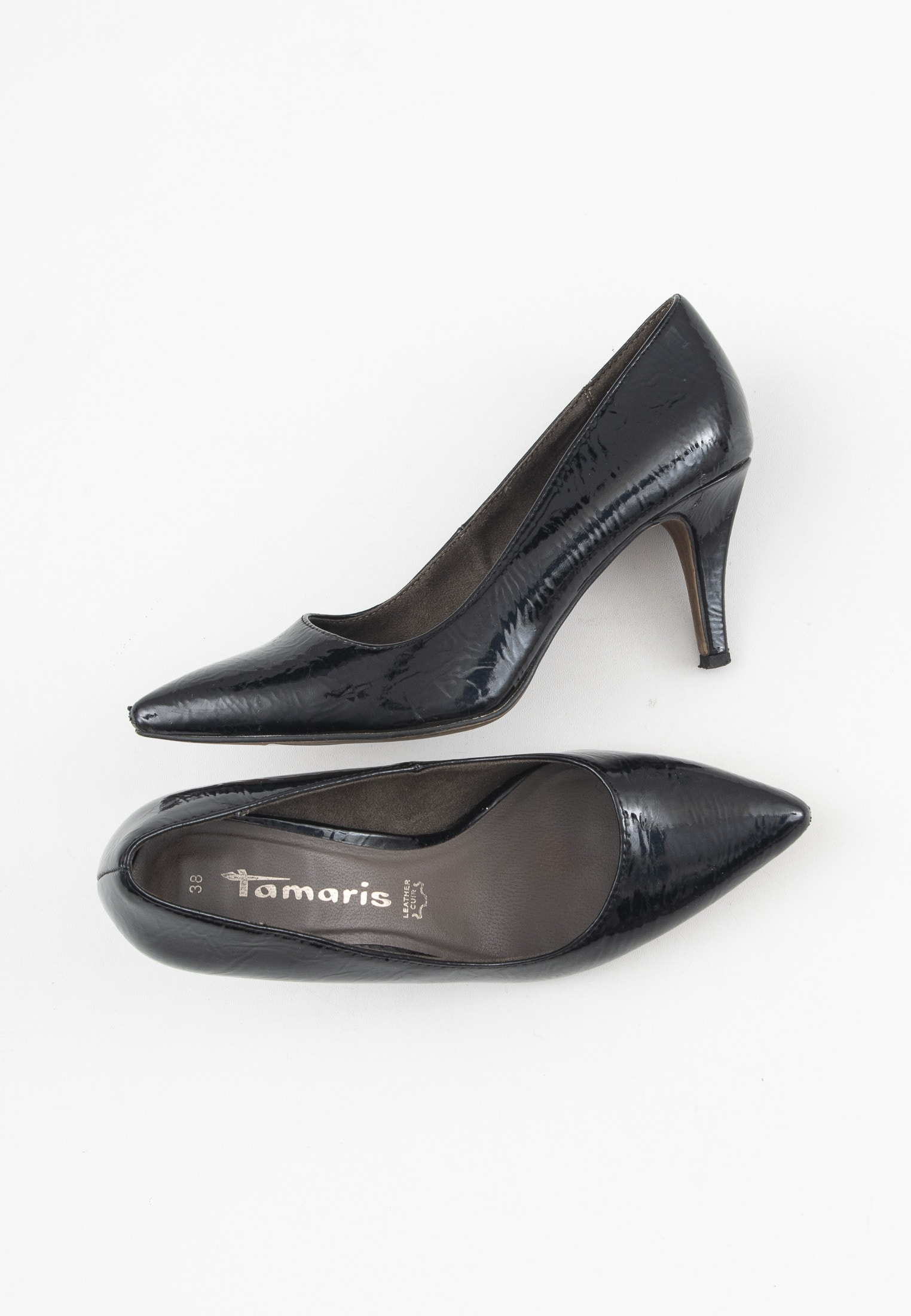 Tamaris pumps, sort, 38