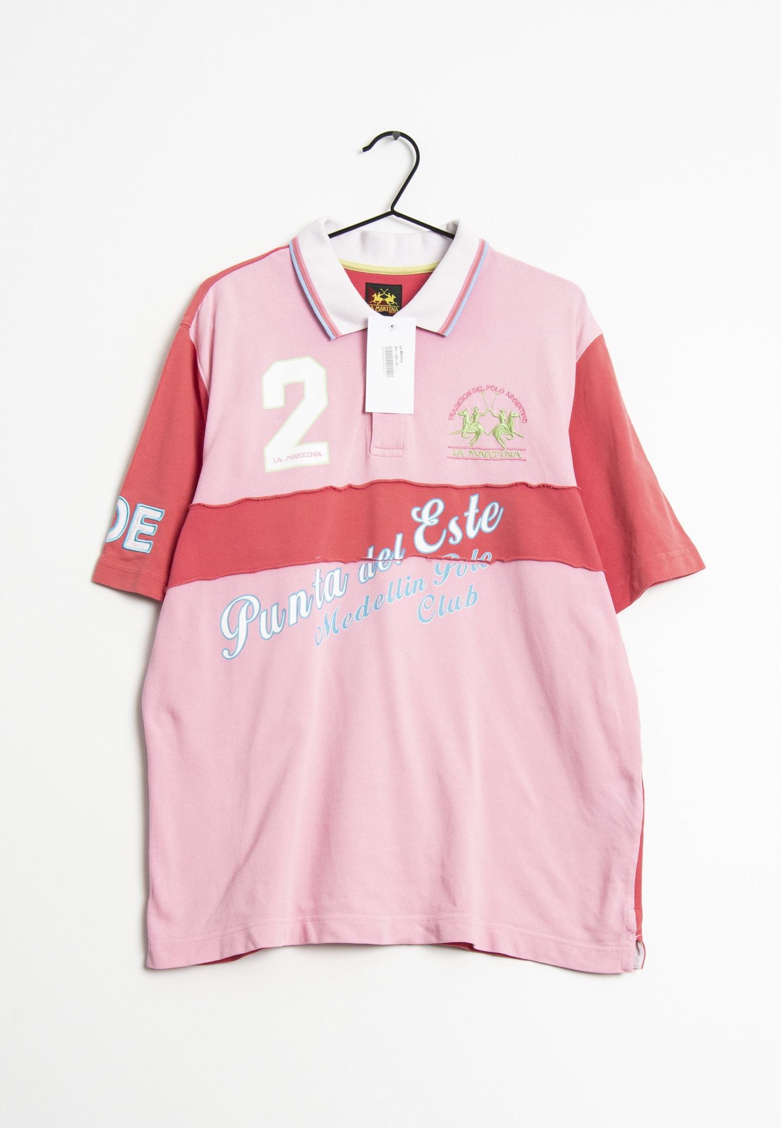 La Martina T-Shirt Pink Gr.XL