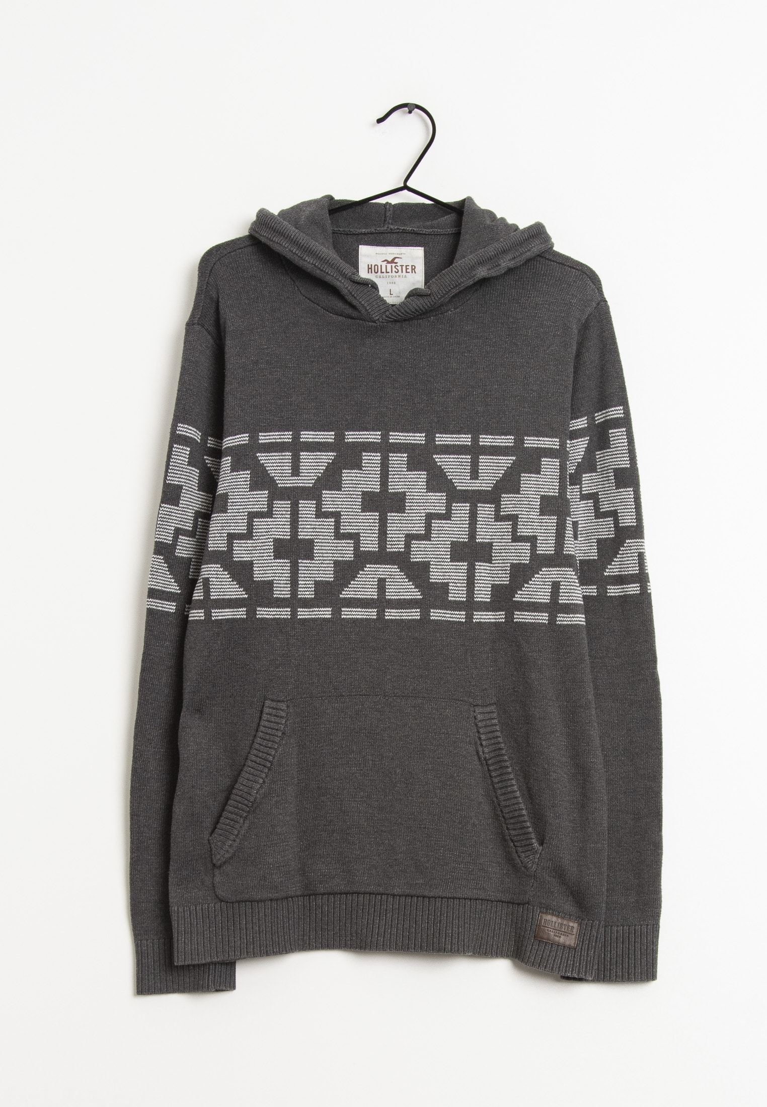 Hollister Co. Strickpullover Grau Gr.L