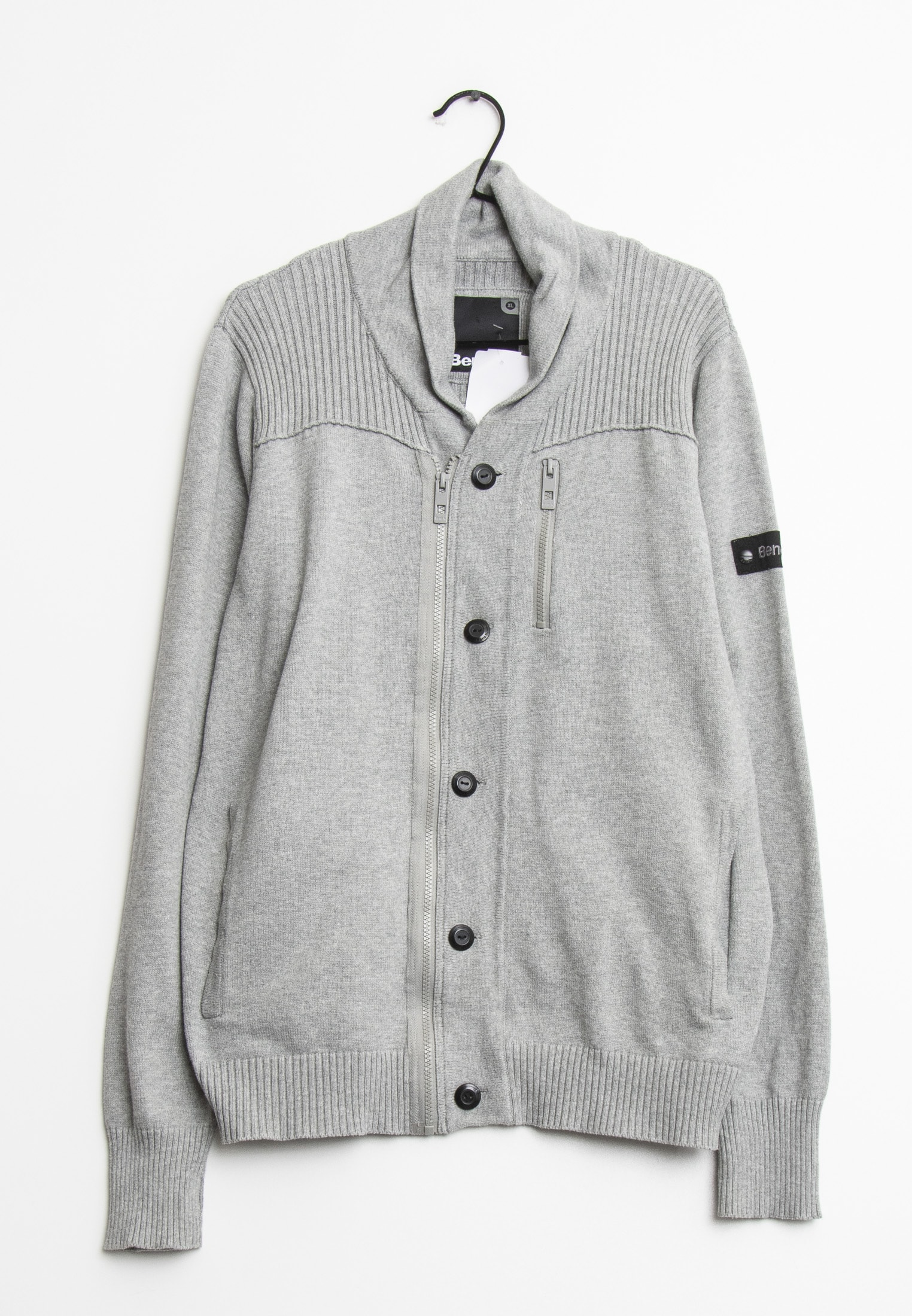 Bench cardigan, grå, XL