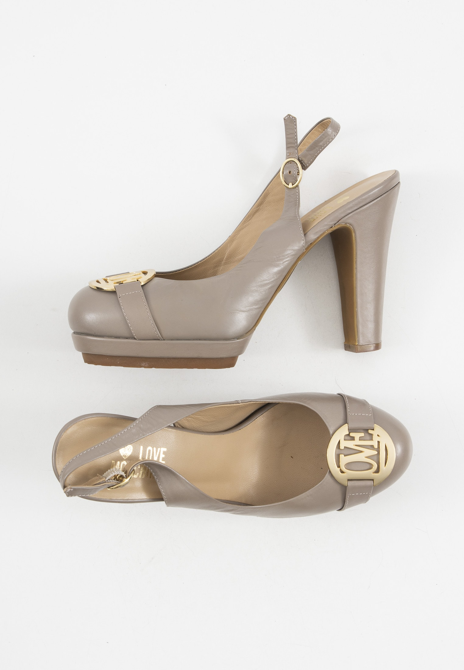 Love Moschino pumps, beige, 40