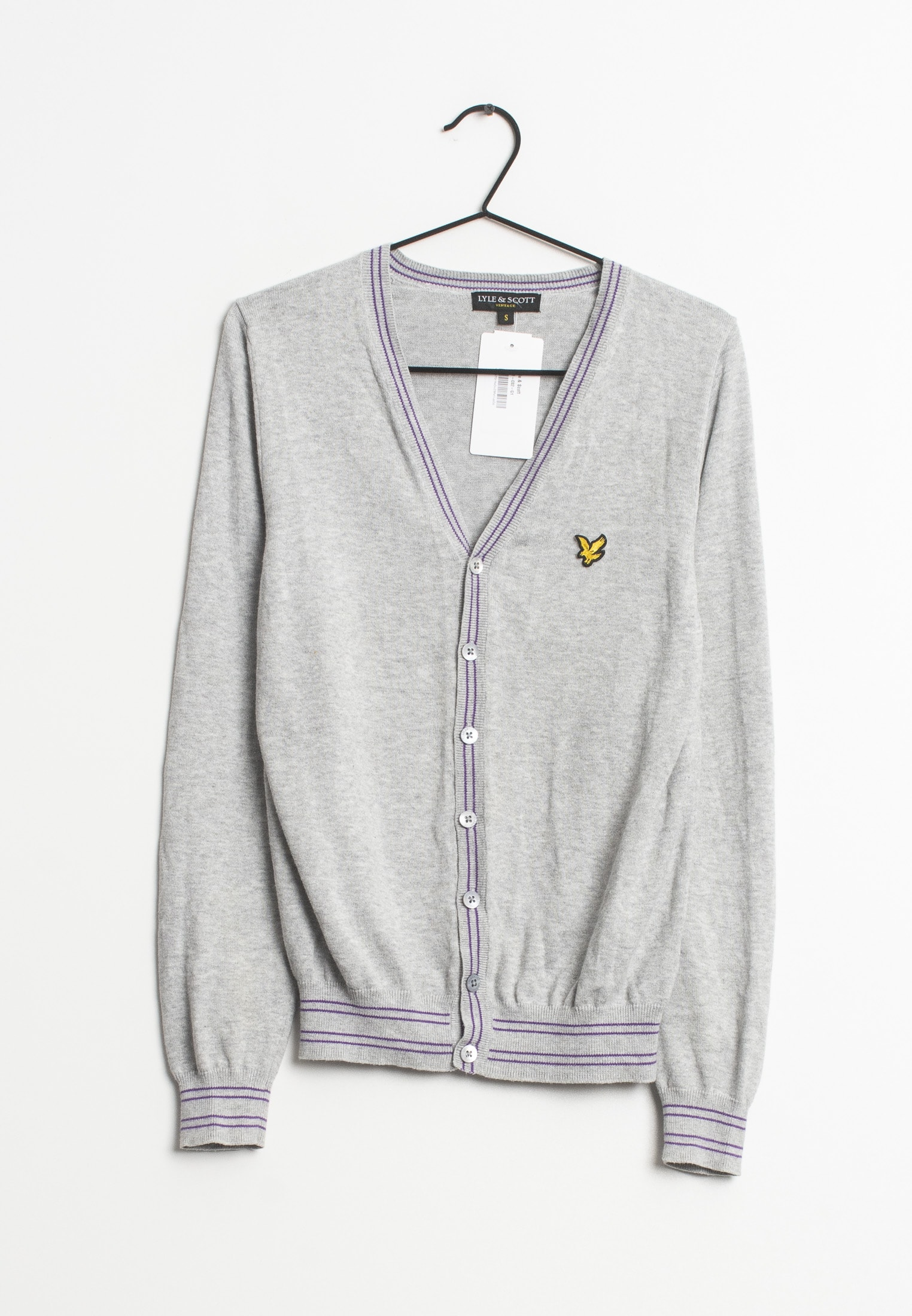 Lyle & Scott Strickjacke Grau Gr.S