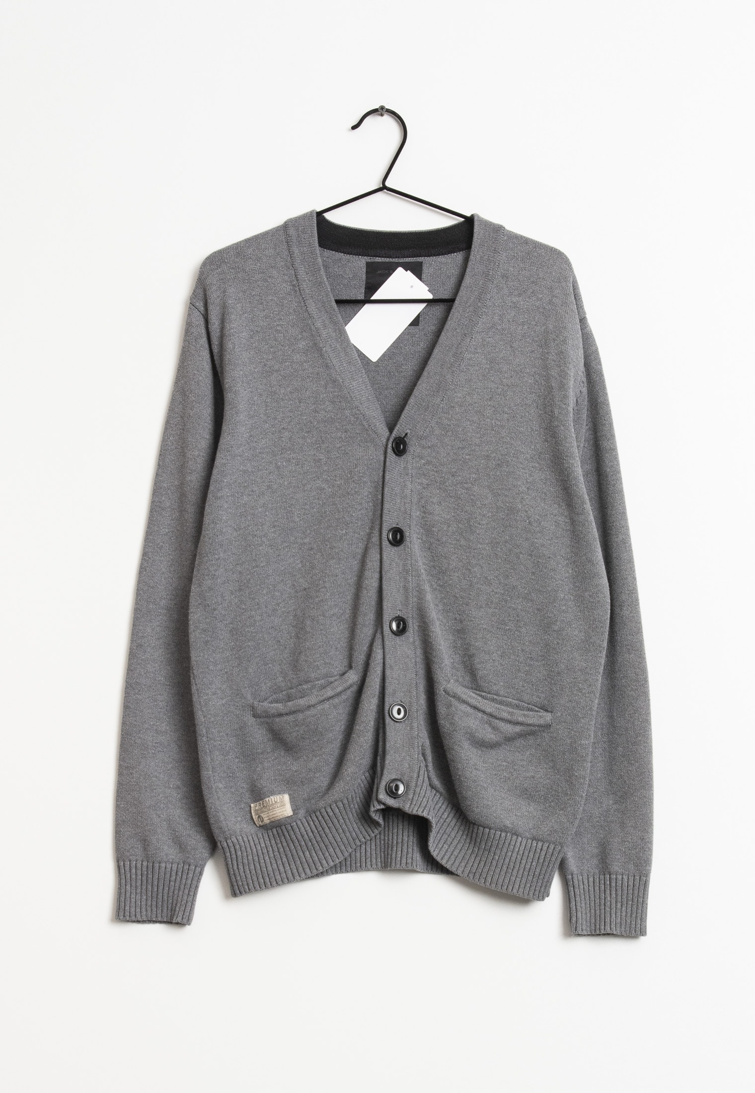 Jack & Jones cardigan, grå, XL