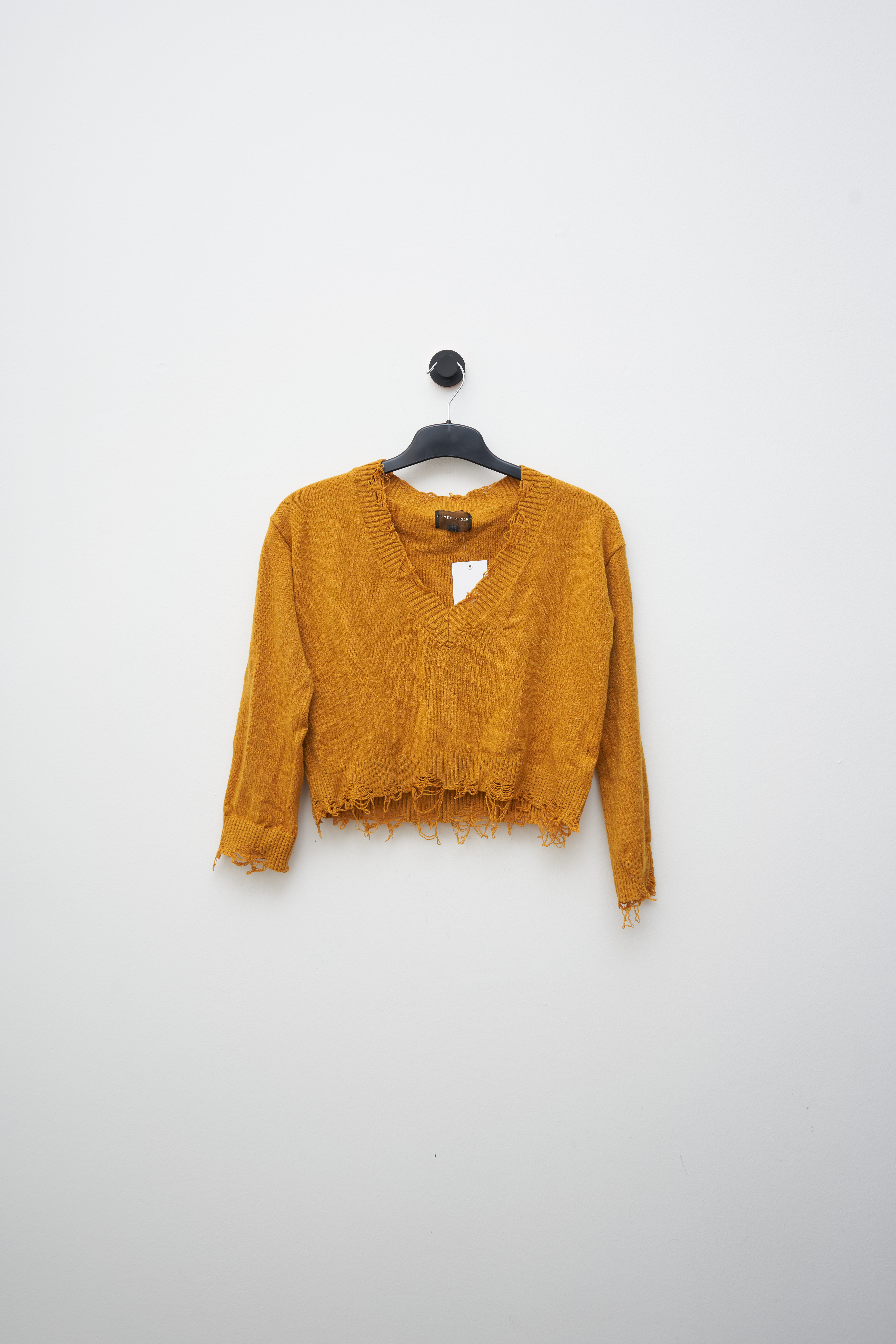 Honey Punch Strickpullover Gelb Gr.XS